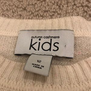Autumn cashmere KIDS size 12 sweater